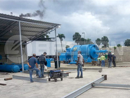 Plastic Waste Pyrolysis Plant in Dominica