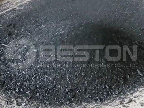 End Products of Sawdust Charcoal Making Machine