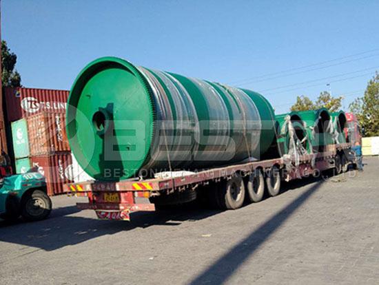 Waste Tyre Pyrolysis Machine to Canada