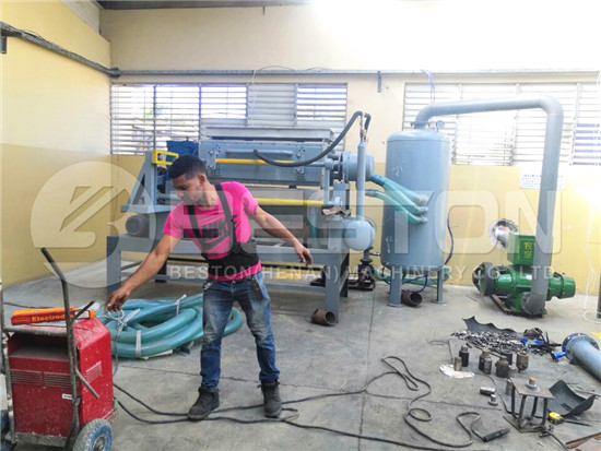 Installing Egg Tray Machine in Dominica