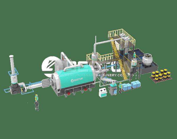 BLJ-10 Pyrolysis Plant Design