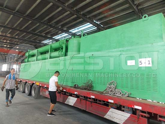 Continuous Tyre Pyrolysis Machine to Romania