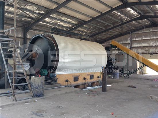 Tyre Pyrolysis Plant in Jordan