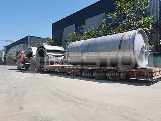 Shipping Pyrolysis Machine to Egypt